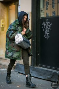 Military puffer jacket