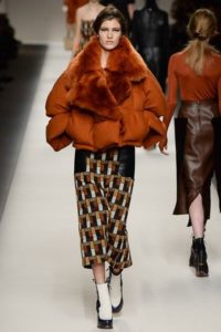 long skirt and puffer jacket
